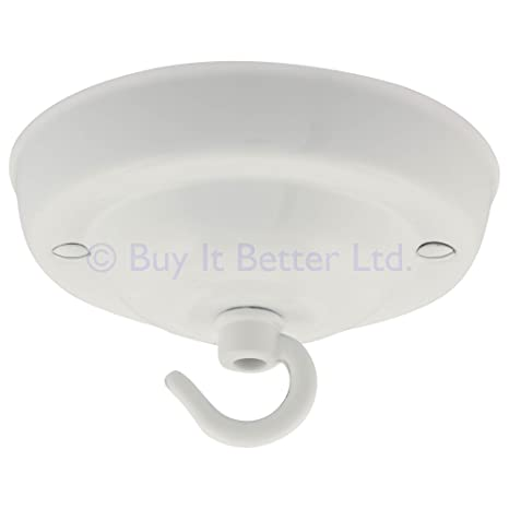 Florón con gancho para lámpara de techo, 108 mm de diámetro