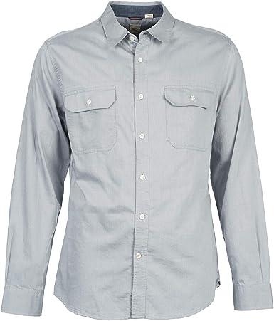 dockers Camisa Hombre Khaki Twill Marrón S: Amazon.es: Ropa y accesorios