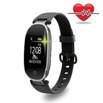 Fitness Tracker, wowgo Mujer Sport Tracker pulsera de reloj inteligente banda pulsómetro, Smart pulsera