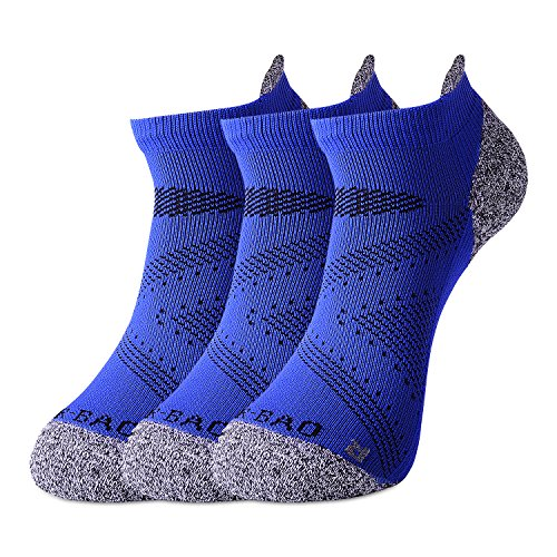 DCCDU Compression Socks for Men&Women - Plantar Fasciitis Socks with Ankle&Arch Support for Boost Stamina Circulation & Recovery-Low Cut Athletic Running Socks (Blue-3 Pair, US (7.5-11))
