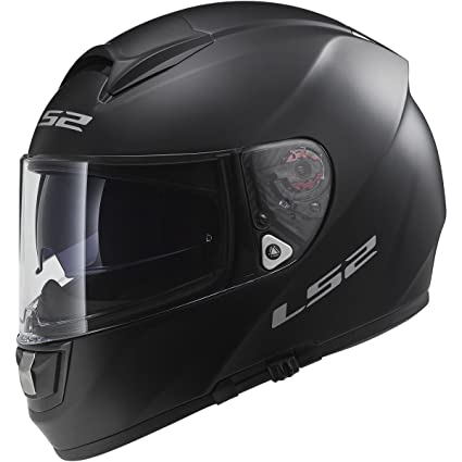 LS2 Helmets Vector Solid Full Face Motorcycle Helmet with Sunshield (Matte Black, Small)
