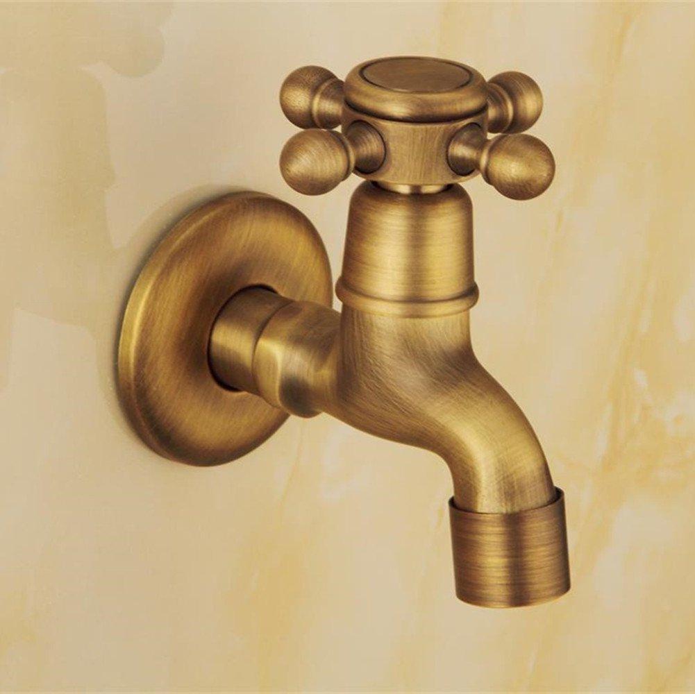 Grifo de agua fr/ía de pared vintage lavatorio lavabo ba/ñera de lat/ón Grifer/ía de jard/ín patio Mop piscina