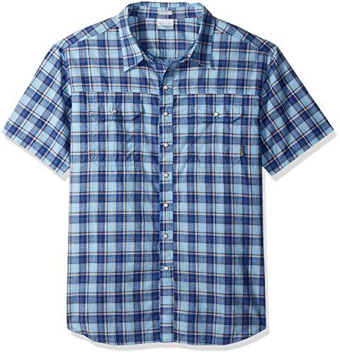 - Columbia Men's Big Leadville Ridge Yarn Dye Short Sleeve Shirt, Air Small Plaid, 4X Tall