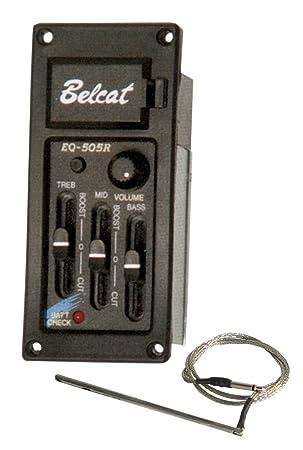 Belcat EQ 505 preamplificador para guitarra Negro