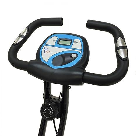 SG - Bicicleta estática plegable con pulsómetro: Amazon.es ...