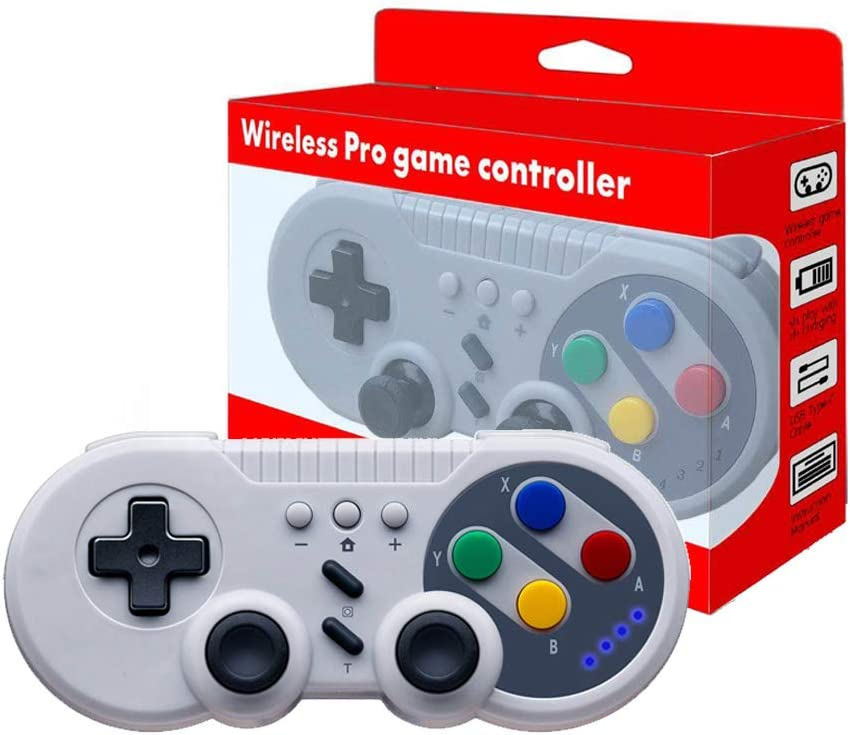 JFUNE Pro Controlador Mando Inalámbrico para Nintendo Switch, Wireless Switch Pro Controller para Nintendo Switch/PC Windows (Estilo Retro)