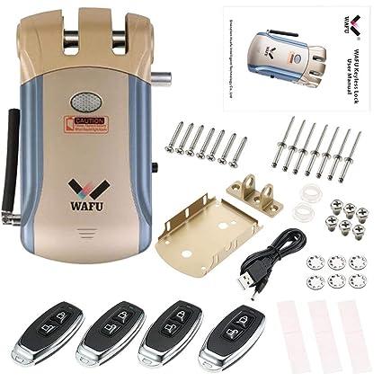 WAFU Smart Lock HF-008 habilitado y pantalla táctil Keyless Smart Lock Deadbolt con alarma