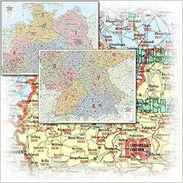 Bacher Postleitzahlenkarte Deutschland Nord Sud 1 500 000 2