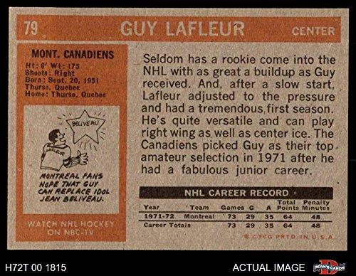 5e9d1acae Amazon.com  1972 Topps   79 Guy Lafleur Montreal Canadiens (Hockey ...