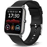 Smartklocka, 1,4 tum färg full pekskärm smartklocka, fitnessmätare klocka med pulsmätare steg sömnspårning, IP67…