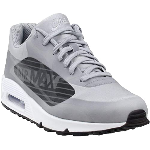 NIKE Men's Air Max 90 NS GPX SP Wolf GreyBlackWhite Synthetic Running scarpa 13 D(M) US