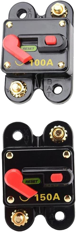 Car Audio 150 Amp Circuit Breaker Manual Reset Fuse Holder Kill Switch