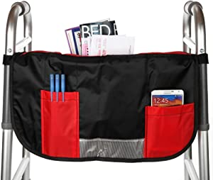 Home-X - Walker or Wheelchair Pocket Pouch, Easy-to-Access Organizer Works Great for Folding Wheelchairs and Walkers Alike