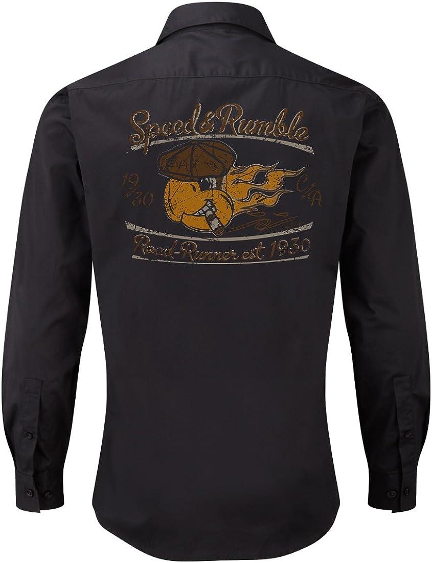 ROAD RODEO - Camisa casual - para hombre negro medium: Amazon.es: Ropa y accesorios