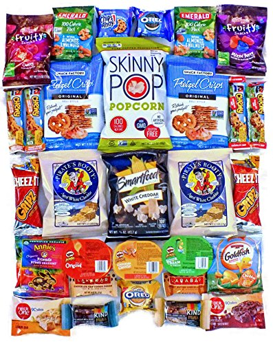LOW CALORIE Snack Pack Assortment Variety Healthier Packs Bulk (30 Piece) 100 Calorie Snack Pack