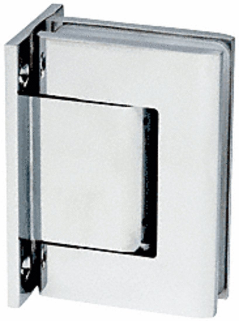 CRL Bright Chrome Oil Dynamic Full Back Plate Wall-to-Glass Hinge - Hold Open by CR Laurence (Image #1)