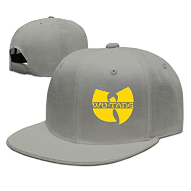 Wu Tang Clan Classic Yellow Logo Plain Adjustable Cap Snapback Hat ... 83b7bed04be7