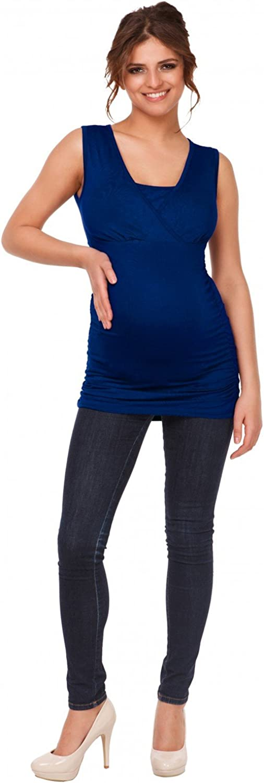 Happy Mama Donna Maglia pr/émeman per LAllattamento T-Shirt Taglio Impero 371p