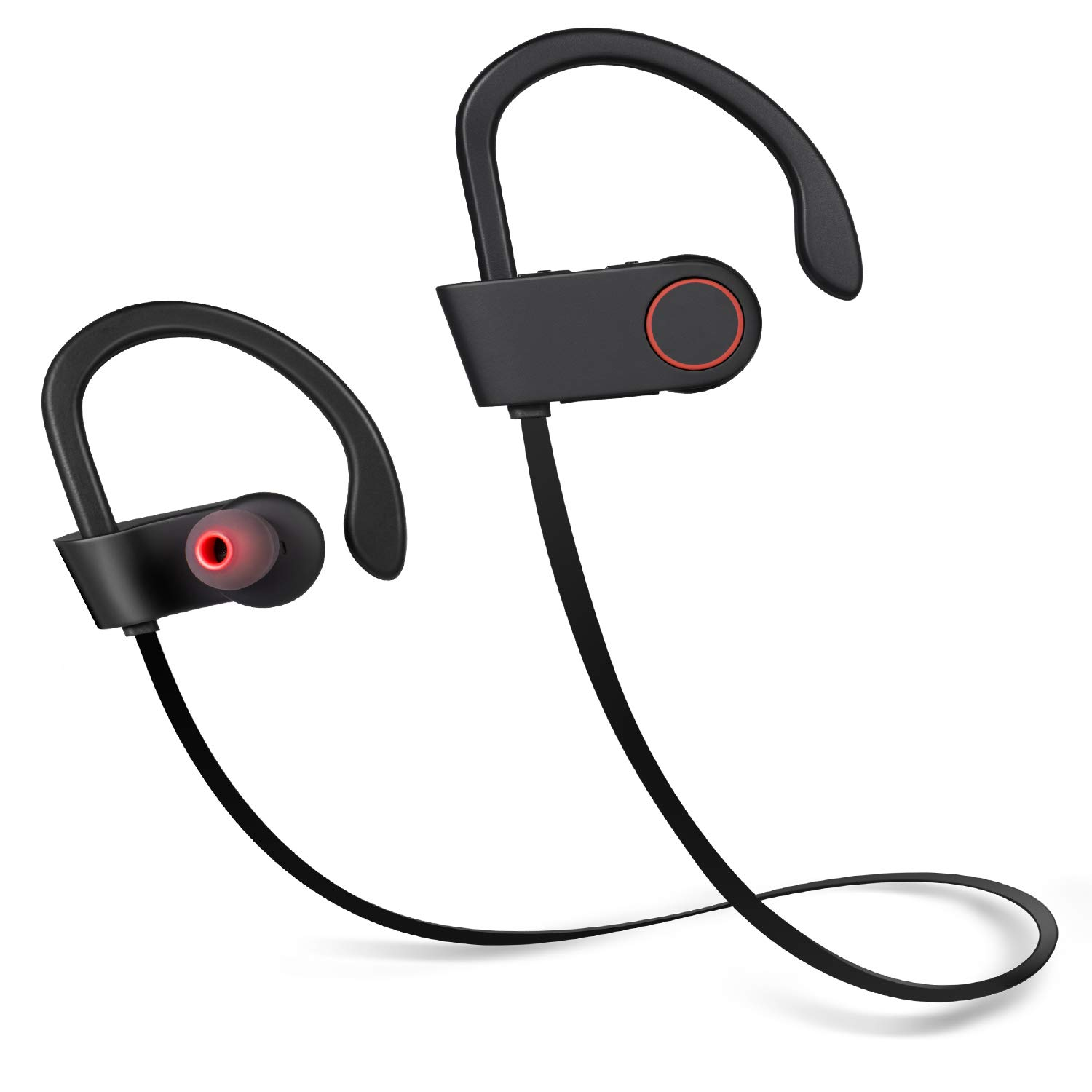 Bluetooth Headphones, Wireless in-Ear Earbuds Sports Headphones, Stereo Sound, Noise Cancelling, Sweatproof Waterproof Gym Running Earphones with Built-in Mic for PC Cell Phones TV