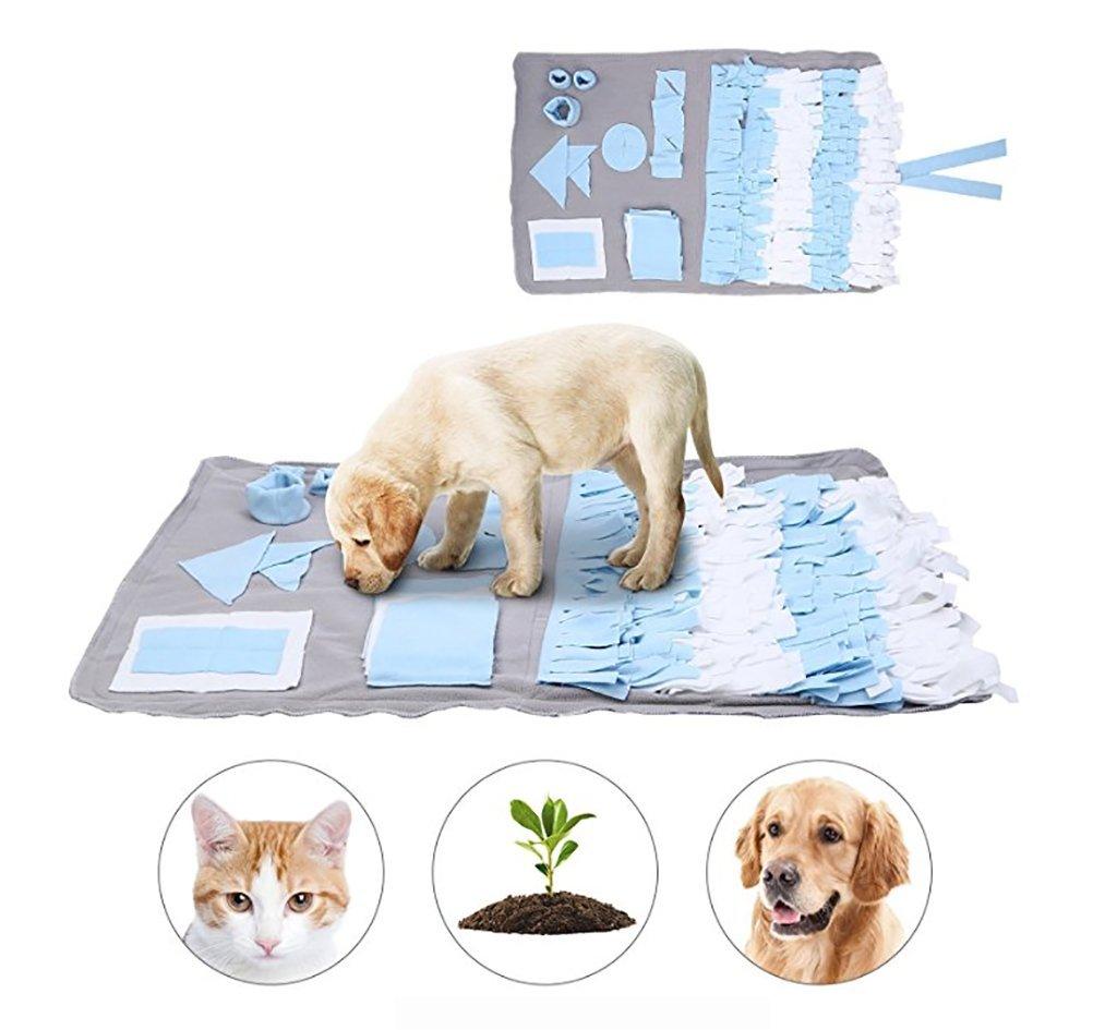 bluee Medium bluee Medium DAN Pet Snuffle Mat Nosework Blanket Dog Training Mats Dog Feeding Mat Pet Activity Mat Great for Stress Release
