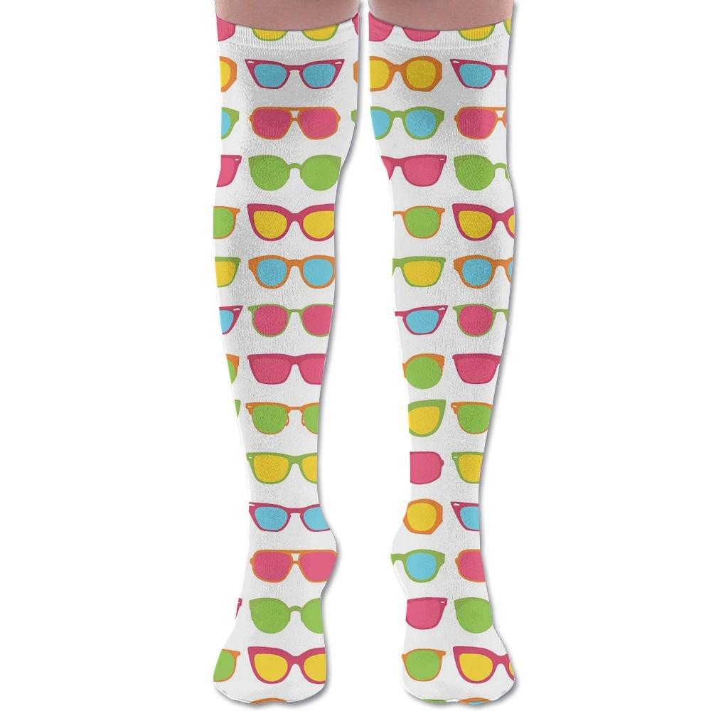 Unisex Football Socks Cool Summer Sunglasses Art Knee-Highs Long Socks
