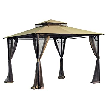 Sunjoy Replacement Canopy Set for 10x10 Bamboo Gazebo  sc 1 st  Amazon.com & Amazon.com: Sunjoy Replacement Canopy Set for 10x10 Bamboo Gazebo ...
