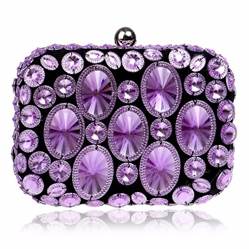 De Golden Diamants Robe Soir Banquet Sac XJTNLB Européen Main Madame À Robe Violet Banquet Du Et Américain xRgpZPFq