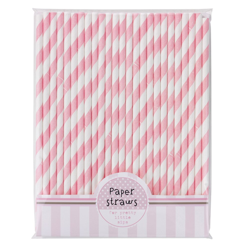 Talking Tables Pink-n-Mix Paper Straws, Pack of 30: Amazon.co.uk ...