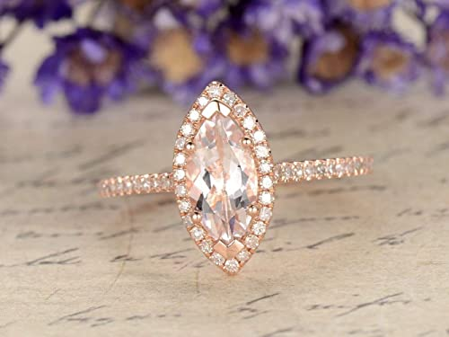 Amazon com: 1ctw Natural Pink Morganite Engagement Ring