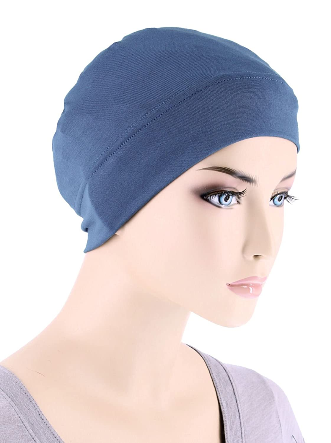 Amazon.com : Chemo Cap, Silky Soft Cotton Knit Head Scarf Hat for ...