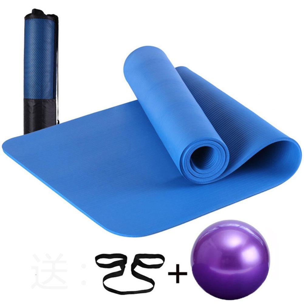 HJZ MäNner Und Frauen NatüRliche Bequeme Rutschfeste Yoga Matte Und Pilates Mat Kit Sport Und Workout Mehr