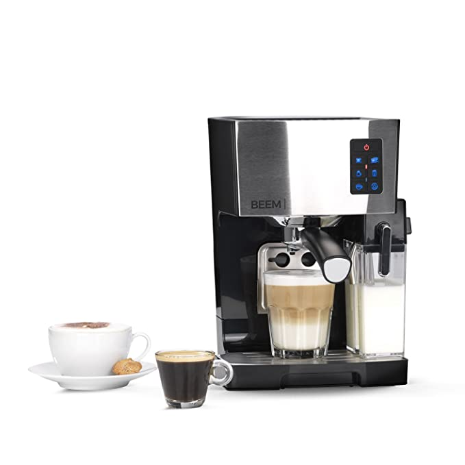 BEEM Espresso 1110SR - Elementos para café y té, 1450 W, bomba de 19 bares, espumador de leche, acero inoxidable: Amazon.es: Hogar