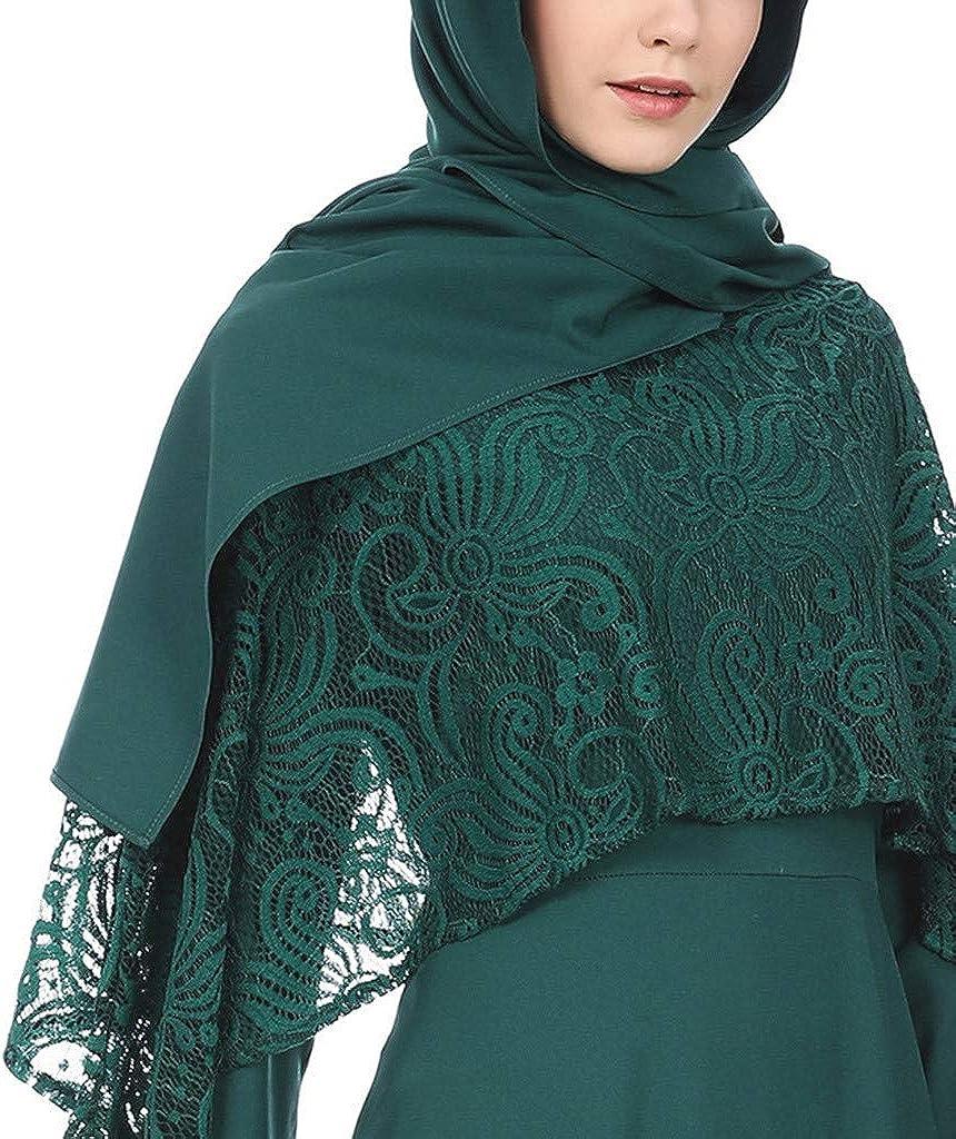 Zegeey Damen MaxiKleid Muslimische Einfarbig Langarm Vintage Abendkleider Modest Muslim Kleid Kleidung Islamischen Kleid Rockabilly Kleid/Elegant Kleider