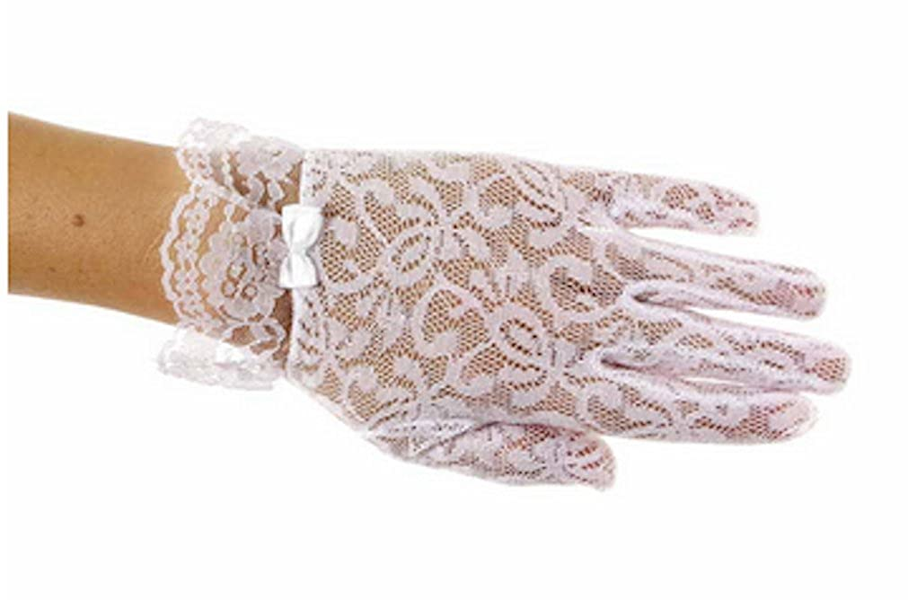 Little Cutie Girls Special Occasion Lace Wrist Length Gloves Sizes 1 to 12 Years
