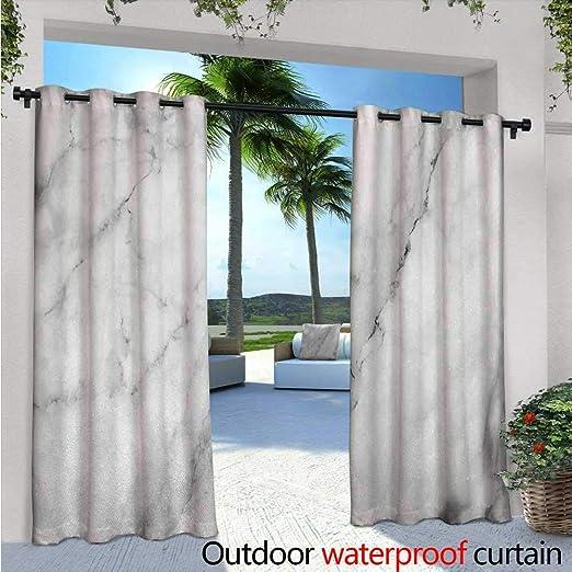 Cortina de privacidad para exteriores de mármol para pérgola granito, con efecto de dibujo natural y grietas, estilo antiguo, aislante térmico, repelente al agua, para balcón, gris y blanco: Amazon.es: Jardín