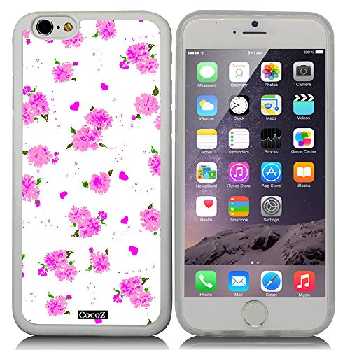 CocoZ® New Apple iPhone 6 s 4.7-inch Case Beautiful flower pattern TPU Material Case (Transparent TPU & Beautiful flower - Chanel Womens Glasses