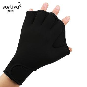 Amazon Com Sorliva Swimming Gloves Frog Web Gloves Finger Out