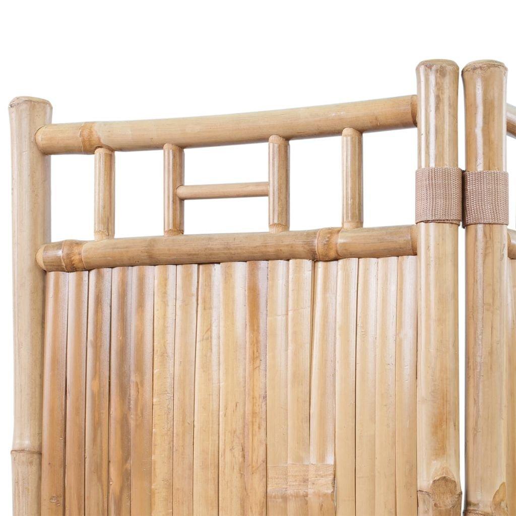 Fesjoy Freestanding Paravento in bamb/ù a 4 Pannelli con divisorio per divisori
