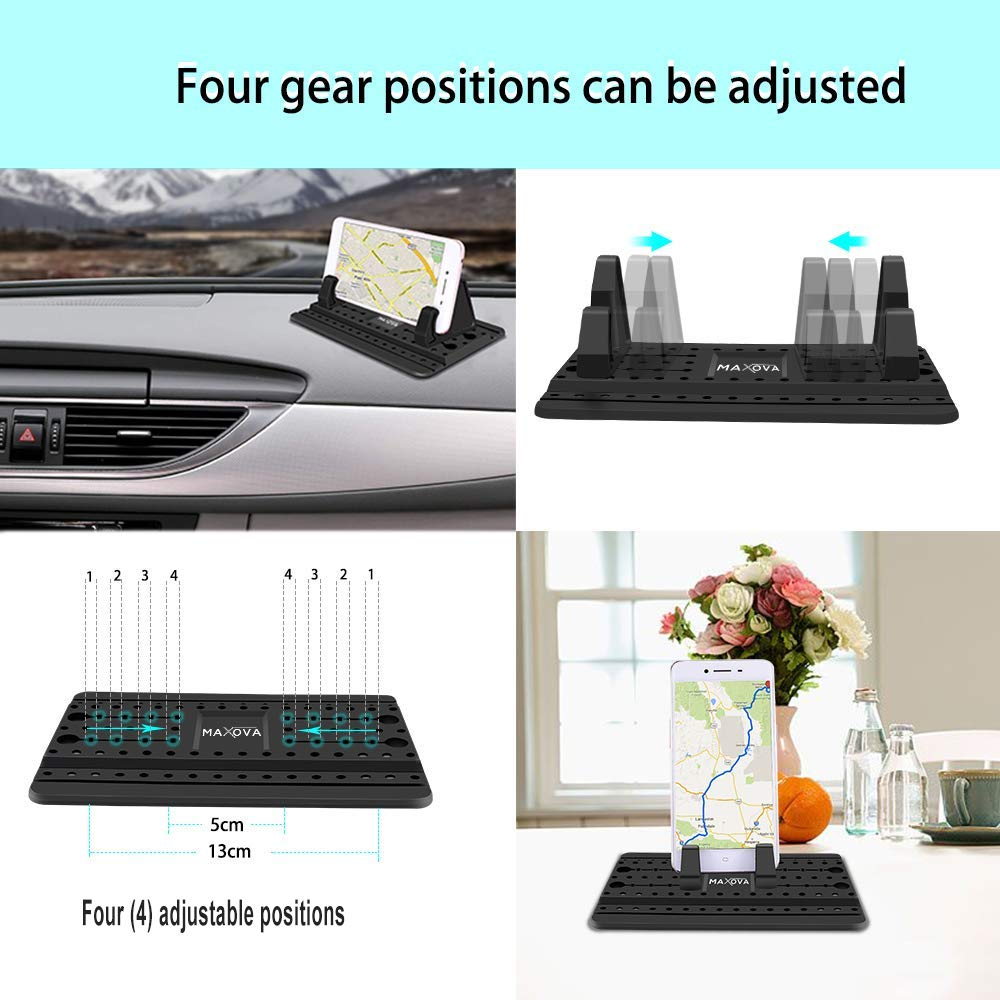 Car Phone Mount-Universal Silicon Anti Slip Car Pad Mat Compatible with iPhone Xs Max XR X 7//8 Plus Dashboard Cell Phone Holder by Maxova Samsung Galaxy S9 S8 S7 Note 8 9-Includes Microfiber Cloth 4351516894