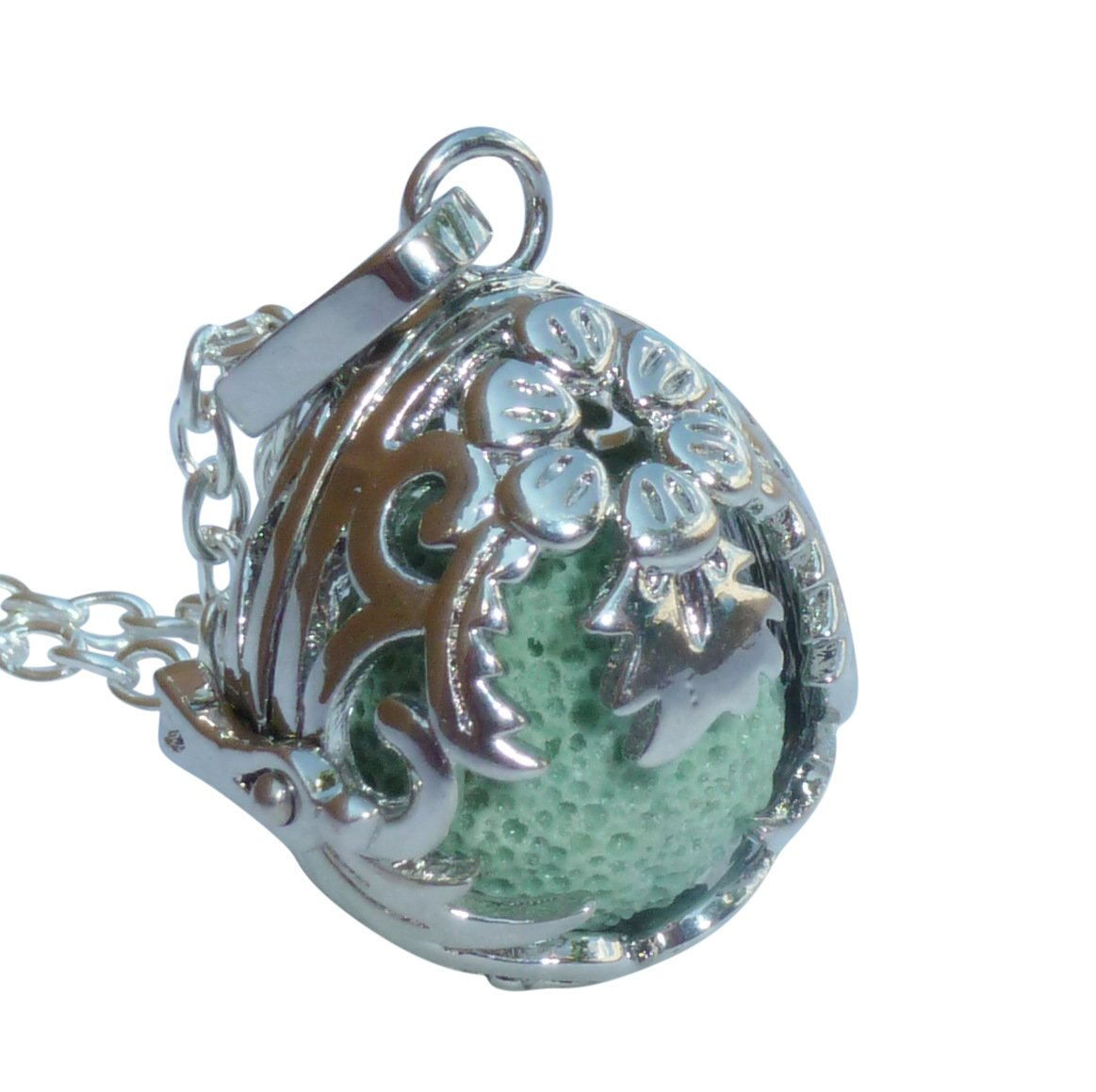 UMBRELLALABORATORY YOur perSOnal STYlish Essential oil necklace Steampunk Dragon EgG d2 0