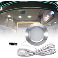 Sangmei Recessed 12LED RV Boat Recessed Ceiling Light 12V Led Lights Round Shape Ultra-Thin Camper Interior Lighting…