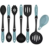 KALREDE Mixing Bowls Set Plastic 9 PCS including Silicone Spatula, Measuring Spoons, Colander, Sifter and Compact Nested Mixing Bowls(Food-Grade PP, Multi-Colour)