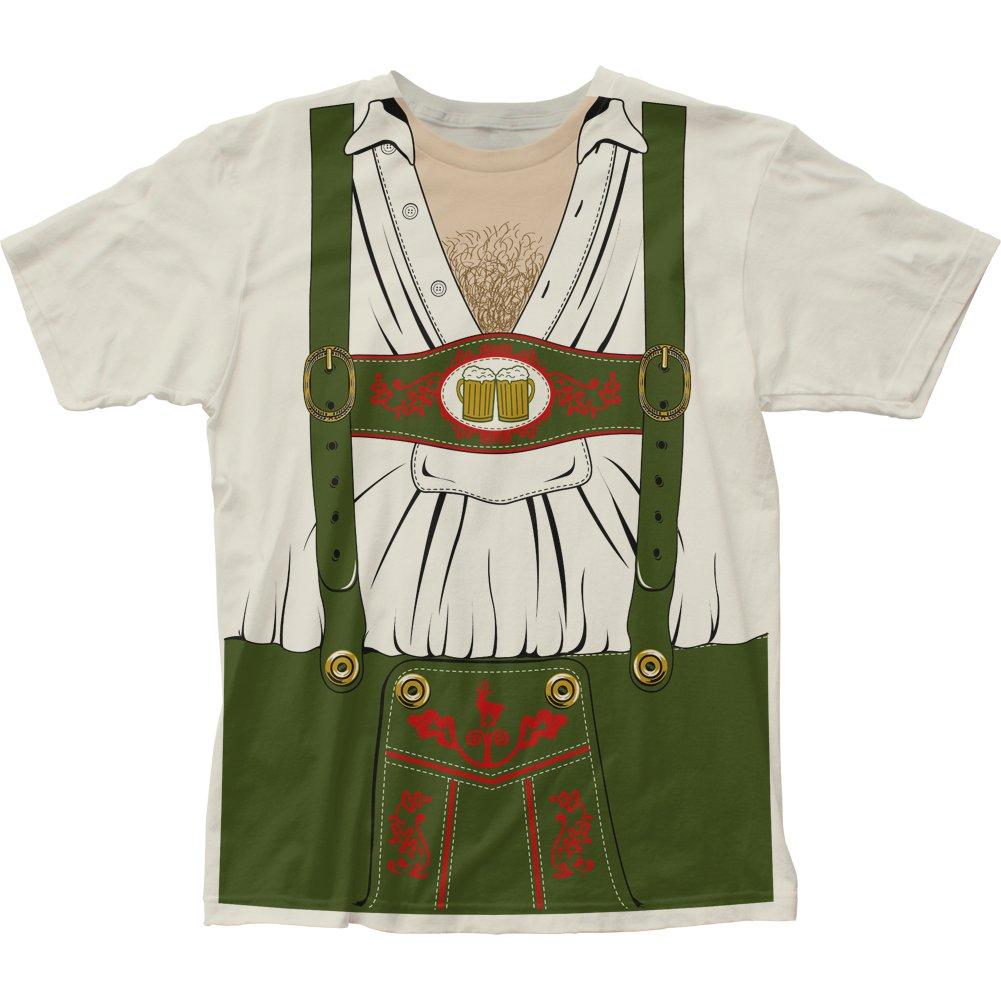 Impact Originals Octobeerfest Oktoberfest Mens White Costume T-Shirt Impact Merchandising