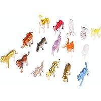 TOYANDONA 44 Stks Mini Plastic Wilde Dieren Modellen Speelgoed Jungle Realistische Dier Figuur Set Voor Kinderen Kids…