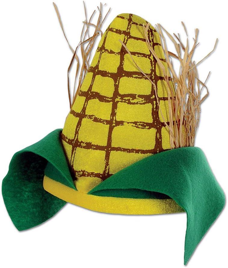 Adult Yellow Corn Cob Plush Novelty Hat