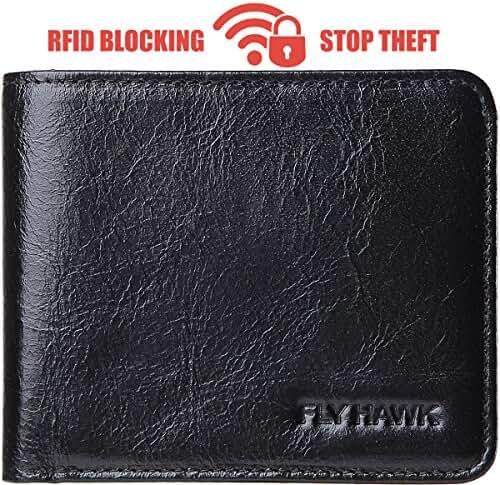 RFID Blocking Fold Wallets for Men Slim&Mini Mens Leather Credit card wallet