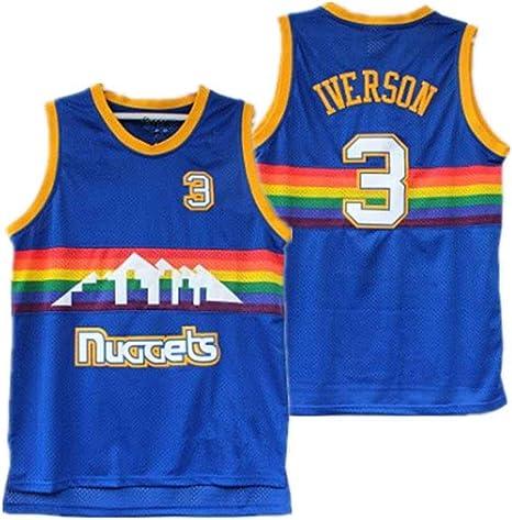 YMXBK Camiseta de Baloncesto para Hombre Iverson Allen Iverson ...