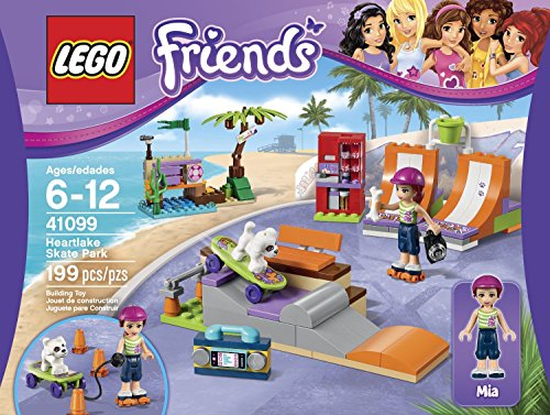 LEGO Friends 41099 Heartlake Skate Park Building Kit Put Charlie On The Skateboard And Pull Him Along Order Now! With E-book Gift@ (Lego Vending Machine)