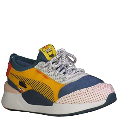 super popular 493a5 19dd5 PUMA Kid's Sesame Street RS-0 PS Boys Fashion Sneakers Rose/Blue  Coral/Dandelion