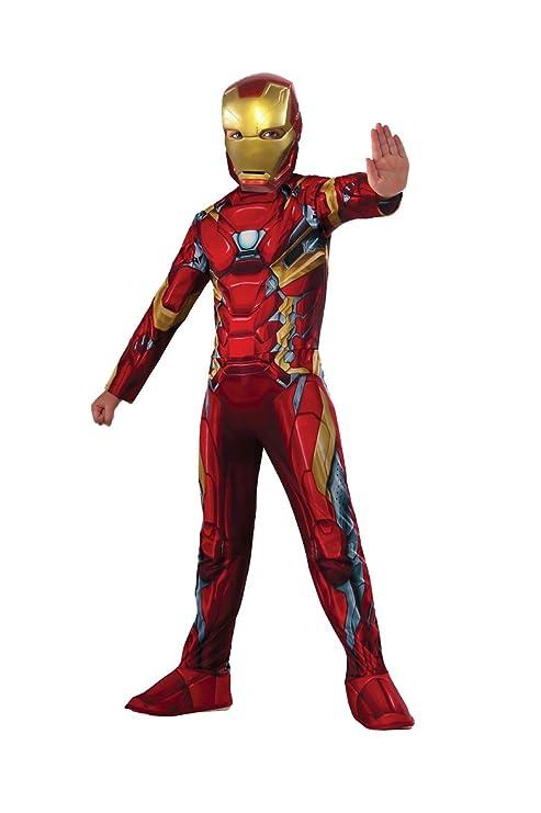 Rubies Iron Man Classic Civil War Disfraz para niños, L (620581)